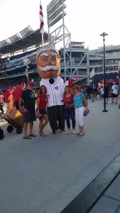 CC Pace at Nationals Game